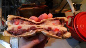 ホットサンドの研究〜苺、餅、アンコ〜